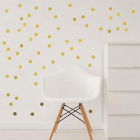 zidne naljepnice zlatne točkice