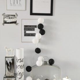 pamučna svjetla crno bijela