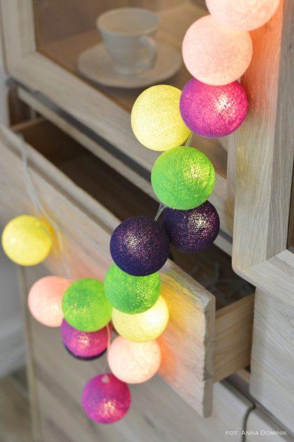 pamučna svjetla happy šarene boje