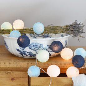 pamučna svjetla elegantna plava