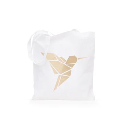torbica zlatna origami ptica totebag shopping pamućna torbica