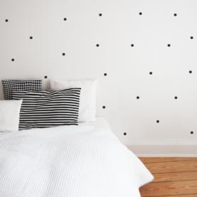 točkice zidne naljepnice crne