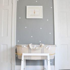 bijele zidne naljepnice točkice