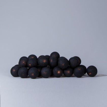 cotton ball lights black