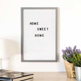 letter board bijelo sivi 30x45 cm