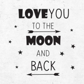 zidna naljepnica love you to the moon and back