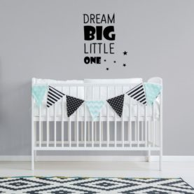 zidna naljepnica dream big little one