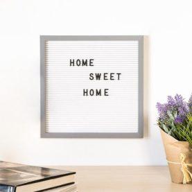 letter board 30 x 30 cm bijelo sivi