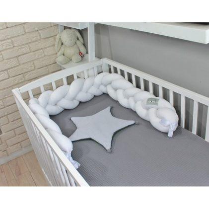 Pletenica za dječji krevetić Bijela