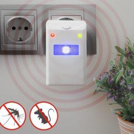 Sredstvo za odbijanje insekata i glodavaca s LED svjetlom