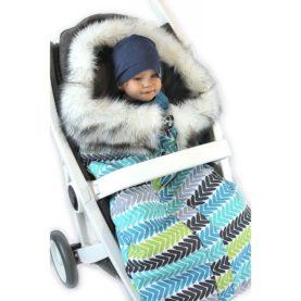 Zimska vreća za kolica Eskim Plavi