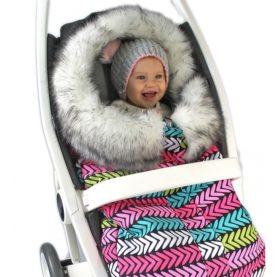 Zimska vreća za kolica Eskim Ružičasti