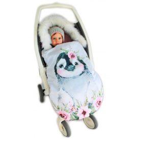 Zimska vreća za kolica Pingvin Ružičasti